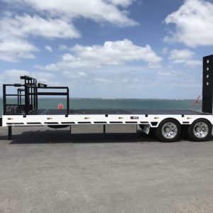 Custom Tandem Axle Trailer With Auger Rack