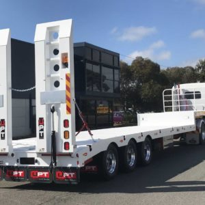 Drop Deck Trailer With Bpw Axles