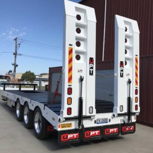 Heavy Duty Upt Trailer With Hydraulic Ramps