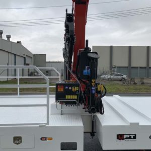 Crane Fitted To Tri Axle Trailer