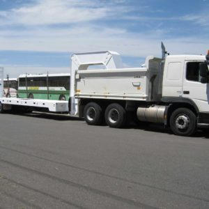Swan Neck Heavy Duty Trailer With Hydraulic Ramps